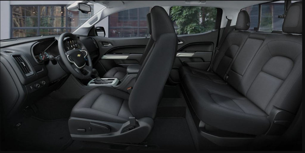 2020 Chevy Colorado Double Cab Interior Size