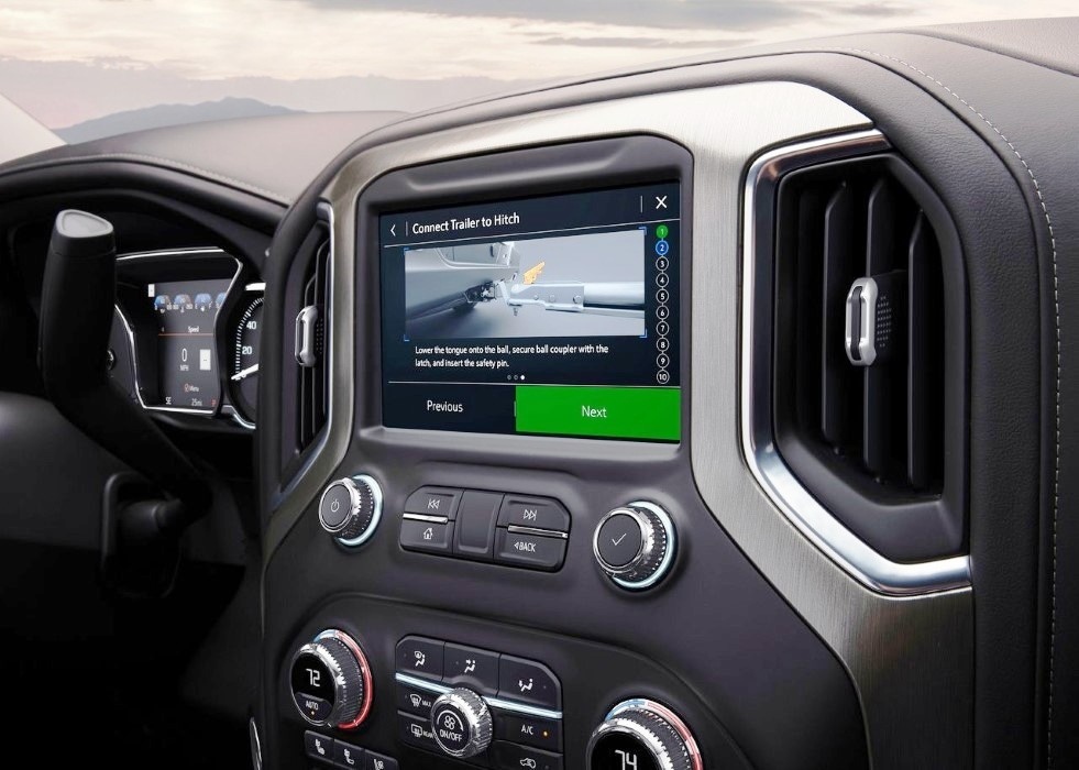 2020 GMC Sierra HD Interior With Apple Caplay