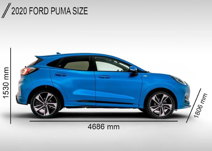 2020 Ford Puma Dimensions