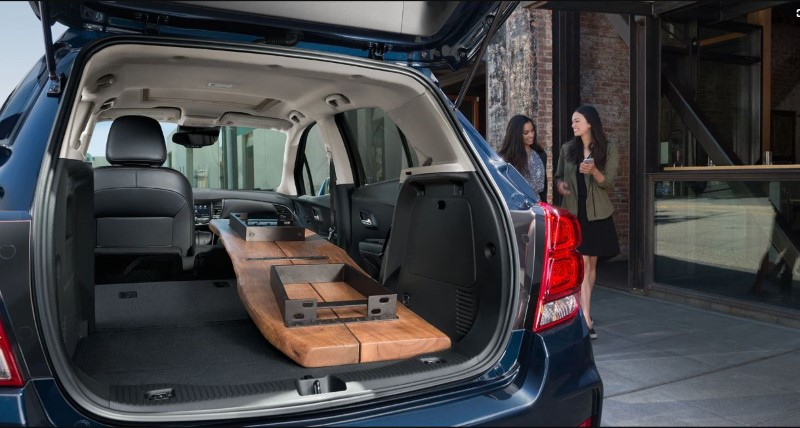 2020 Chevy Trax Trunk Capacity Fit a table