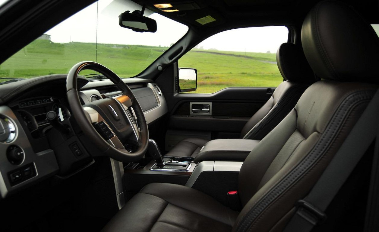 New Lincoln Pickup Truck Interior Black Color