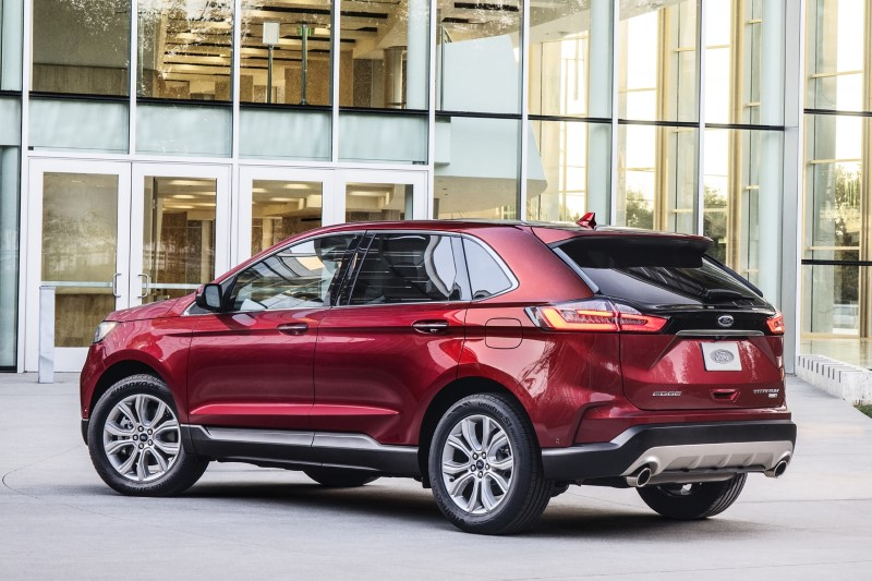 2020 Ford Edge Red Color Titanium Pricing