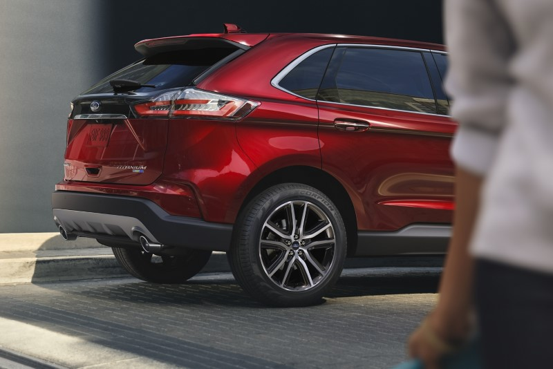 2020 Ford Edge Titanium Red Color With New tail Light and New Wheel Design