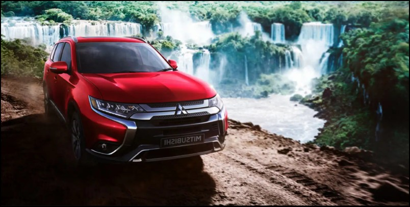 2020 Mitsubishi Outlander Red Color Exterior