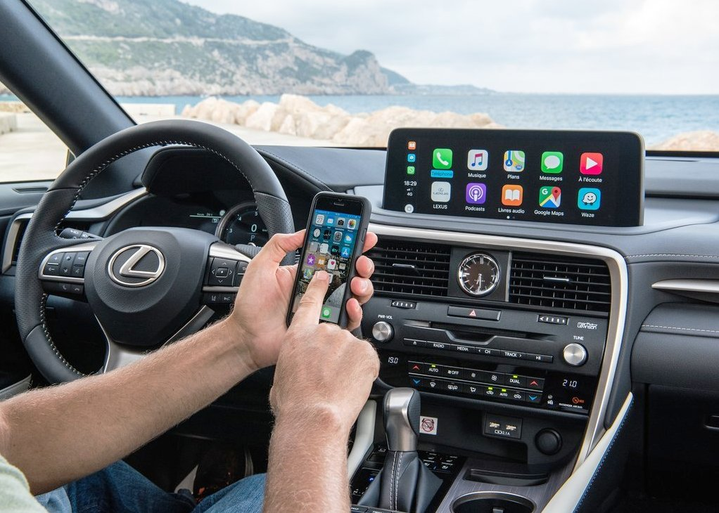 2021 Lexus RX 450h Apple Carplay features