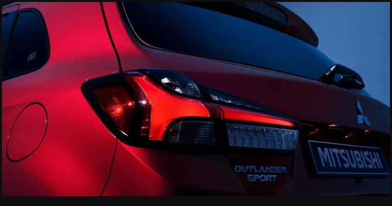 2021 Mitsubishi Outlander Sport Redesign Exterior Tail Light