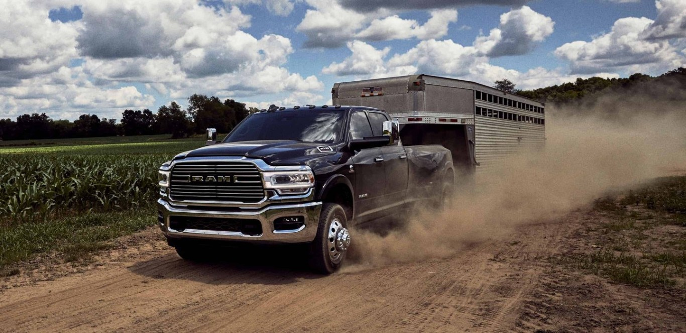 2021 RAM 3500 Towing a Trailer