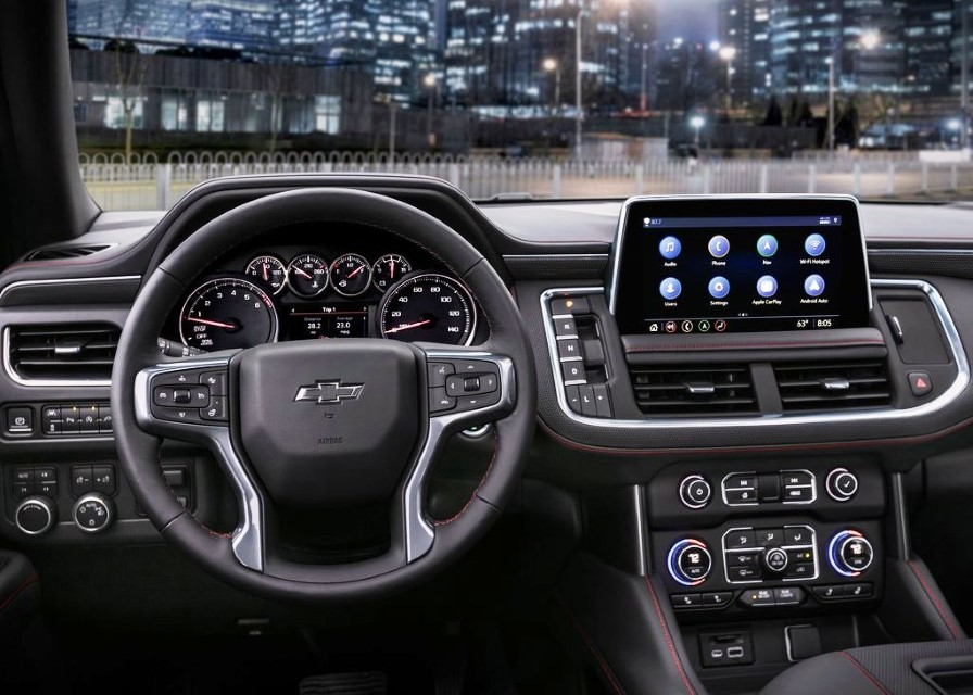 2021 Chevy Tahoe Interior Dashboard with new features