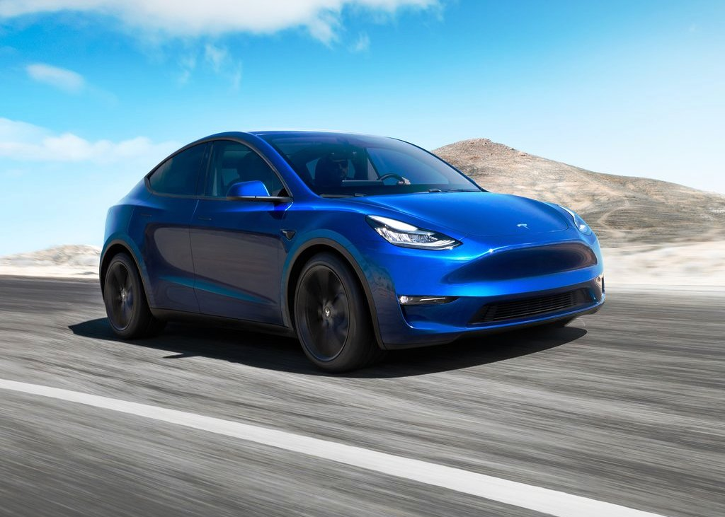 2021 Tesla Model Y Blue Colors