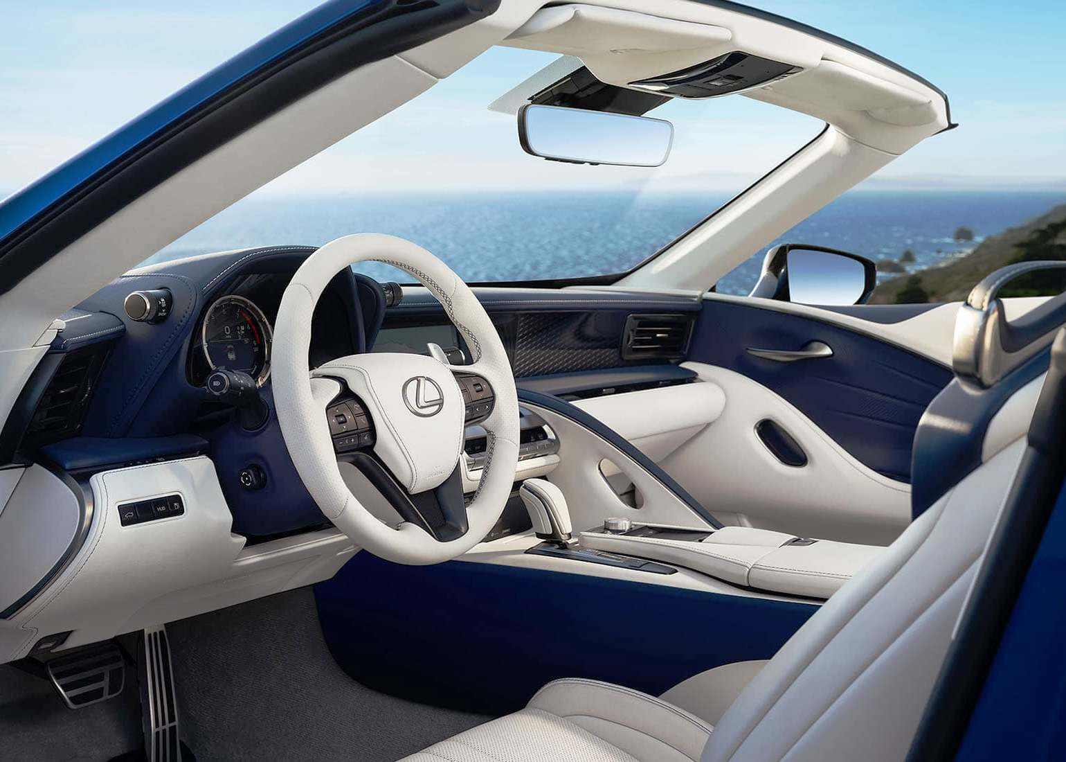 2021 Lexus LC 500 Convertible Interior Features