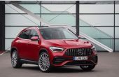 2021 Mercedes GLA 35 AMG Redesign Front End Angle With New Headlamp