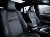 2021 Toyota Rav4 Prime Seating in Black Softex surface with Red Stiching